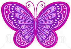 Purple Butterfly Clip Art | ... that symbolize Christian transformation and Cute Purple Butterfly