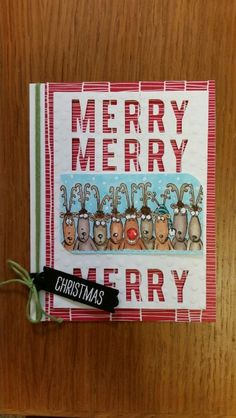 No. 4 of my Holiday Lineup card series!  Yay!  All paper and stamps from Stampin'up.