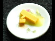 Butter. How to make 1:12 scale miniature butter for dollhouse. GOI