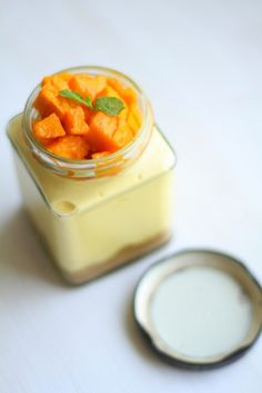 No bake Mango Cheesecake in a Jar