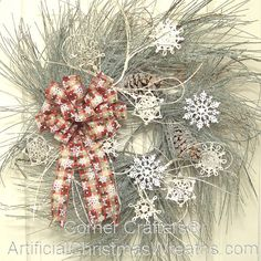 winter wreaths | ... your home this winter season with our large winter snowflake wreath