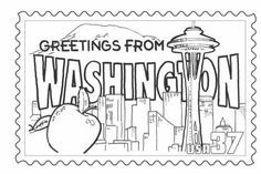 Washington State Coloring Pages Designs Canvas States Project
