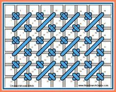 Crossed Mosaic Stitch #NeedlepointStitch
