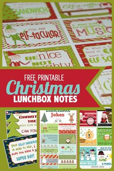7 Free Printable Christmas Lunchbox Notes - Spaceships and Laser Beams