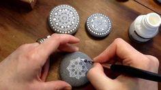 Mandala Painted Pebble by MagaMerlina - Mandala Painted Stones.