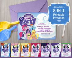 My Little Pony Printable Invitations  Pony Theme by MontyandMeShop
