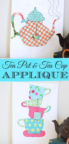 Try a little appliqué for last minute gifts. It's fast and easy and uses up some of those scraps. This Teacup and Teapot Tea Towel Tutorial includes patterns and a detailed tutorial.- The Seasoned Homemaker