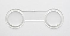 3D kunststof lens paar f=190mm. pd=68 mm.
