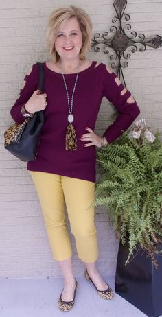 50 IS NOT OLD | CAN YOU WEAR COLD SHOULDER TOPS IN THE WINTER | Transitioning | Leopard print | Claret | Fashion over 40 for the everyday woman