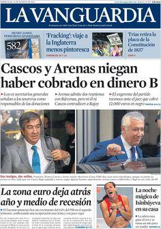Los Titulares y Portadas de Noticias Destacadas Españolas del 14 de Agosto de 2013 del Diario La Vanguardia ¿Que le pareció esta Portada de este Diario Español?