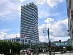 Oderturm, a skyscraper with shopping mall in Frankfurt (Oder), Germany