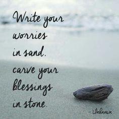 Worries in sand