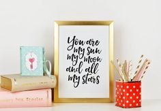 E E CUMMINGS Love Poems You Are My Sun My Moon And All by TypoHome