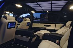 Stylish Car and Interior: Maybach 62s (For Luxury car) Luxury Interior