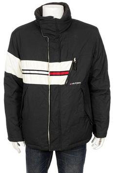 a2197e85 Vintage 90's Tommy Hilfiger Goose Down Ski Jacket Flag Logo Spell Out Size  L Flag Logo
