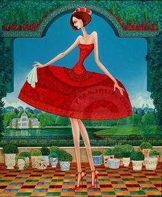 Menina - Painting,  50x61 cm ©2012 por Carlos Andino -  Pintura, Oleo