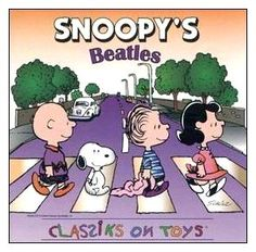 beatles abbey road snoopy