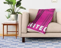 Architecture, Throw Blanket,Modern BedroomDecor,Pink Livingroom Accessories,OfficeDecor,InteriorDesign,Fleece Blanket,HolidayDecor,Structure