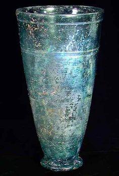 Rare Ancient Roman Iridescent Glass Beaker 1st century AD