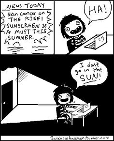 sarah see andersen ... haha this is why im so pale