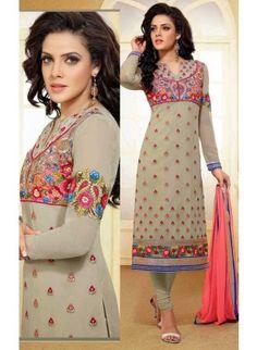 Captivating Gray & Pink Salwar Kameez