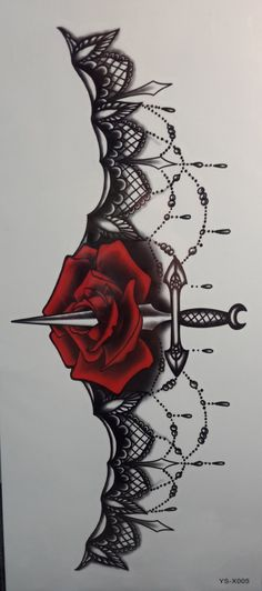 This would make a badass garter tattoo