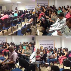 #momentosescolme Hoy nos acompañan los estudiantes de COMPUCEC en la charla etiqueta y protocolo orientada por la psicóloga Dina Hernández en el Auditorio ESCOLME.