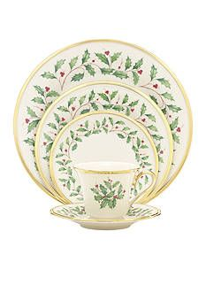 Part of the time-honored Lenox Holiday Dinnerware Collection. Our holly and berry motif adorns the surface of the Holiday Place Setting. Crafted from durable ivory bone china with rich gold trim, for an opulent holiday themed tableware addition. Lenox Christmas, Christmas China, Christmas Dishes, Merry Christmas, Christmas Place, Christmas Time, Vintage Christmas, Christmas Ideas, Christmas Berries