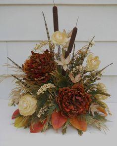 Silk Flower Arrangement Table Decor by FlowersandFrills on Etsy, $59.95
