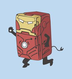 Refrig'r Iron Man by Brandon Ortwein