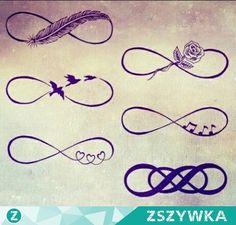 Zobacz zdjęcie Znak nieskończoności w różnych odsłonach... Która podoba się Wam najbardziej? w pełnej rozdzielczości