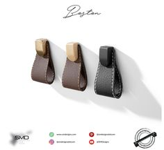 Boston Leather Knob ❤️  Leather Handles and Knobs Available in Fake Leather and Real Leather. For Urban Life Powered By SMD.  #handles #knobs #furniture #trendy #smd #leather #urban_life #leather_handles #leather_knobs #many_colors #handlesandmuchmore