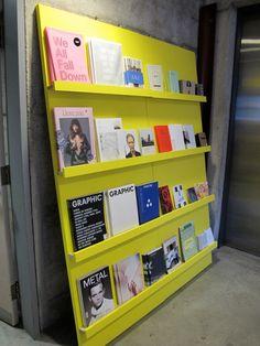 Publié/Autopublié (installedinside a school elevator) byDidier Lerebours