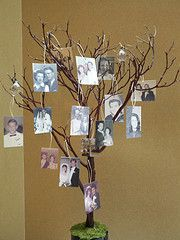 manzanita branch family tree perhaps with pictures of kids? manzanita branch family tree perhaps wit Picture Centerpieces, Reunion Centerpieces, Tree Branch Centerpieces, Tree Branch Decor, Manzanita Branches, Tree Branches, Centrepieces, Picture Tree, Photo Tree
