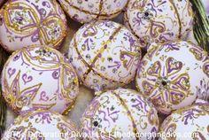 Ornate Purple & Gold Tree Ornaments   The Decorating Diva, LLC