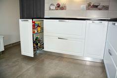 Kitchen Cabinets, Kitchen Appliances, Top Freezer Refrigerator, Home Decor, Granite, Restaining Kitchen Cabinets, Cooking Ware, Homemade Home Decor, Home Appliances