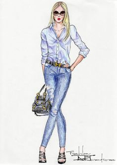 Amanda Bynes Denim and Blue Blouse Tutorial