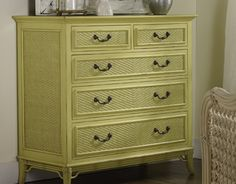 The Hobey Chest in a delectable Key Lime Pie Green. Sophisticated coastal #painted #furniture