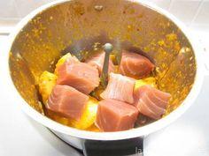 Paso 6: añade el atún cortado en tacos