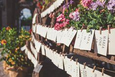 Seating Plan rústico, boda en Granada. www.theweddingmakers.es