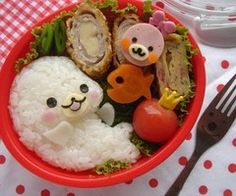 I want to be a little kid again just so that I can get cute bento lunches like this.
