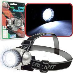 Super Bright 12 LED Headlamp With Adjustable Strap