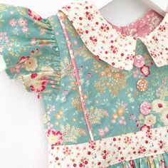Gorgeous Georgia Vintage Dress by Lindsay Wilkes from The Cottage Mama. Toddler Boy Outfits, Toddler Dress, Kids Outfits, Kids Fashion Wear, Toddler Fashion, Geranium Dress, Cotton Frocks, Girls Boutique, Little Girl Dresses