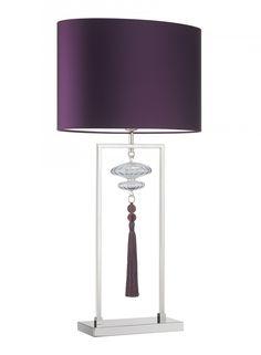 Constance Large Nickel Lustre Table Lamp | Heathfield & Co