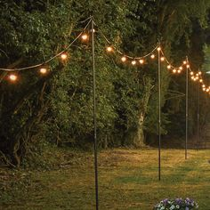 This 2.4m steel festoon pole is the perfect solution to hanging your festoon lights at height. Ideal for weddings and events.