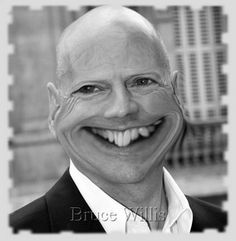 Bruce Willis Caricature Watch this**