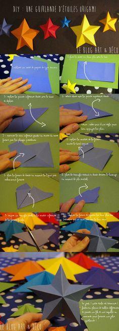 [DIY Noël n°1] Une guirlande d'étoiles en origami !