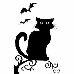 Spooky Hollow Halloween Window Decoration Witch or Cat Silhouette (Witch): Amazon.co.uk: Kitchen & Home