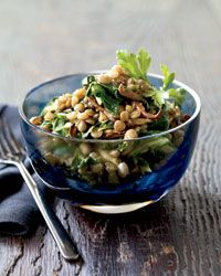 Spiced Lentils with Mushrooms and Greens. #glutenfree #vegan