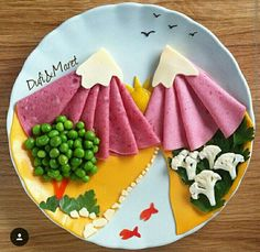 Arts And Crafts Ideas For Halloween Food Art For Kids, Cooking With Kids, Bento Recipes, Baby Food Recipes, Healthy Meals For Kids, Kids Meals, Cute Food, Good Food, Food Decoration